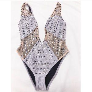 🆕 ASOS gem encrusted embellished swimsuit